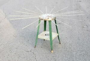 Vtg Stool Clothes Clothing Dryer Drier Drying Rack Rare Antique Laundry Folding