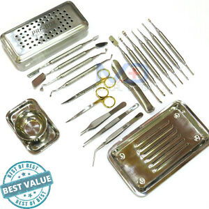 New Dental Prf Grf Box Periosteal Elevator Set Implant Surgery Instruments Kit