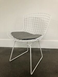 Original Vintage Knoll Harry Bertoia Wire Frame Side Chair White
