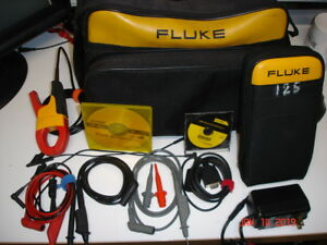 Fluke 125 Scopemeter Kit W Flukeview And Cable