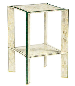 Maitland Smith Tessellated Stone And Malachite Side Table