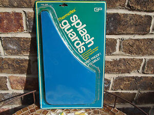 Vintage Classic Solid Blue Splash Guards Mud Flaps Gp Thermoflex New Old Stock