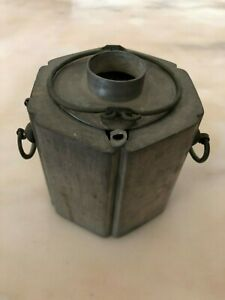 Old Antique Chinese Pewter Teapot Warmer Marked