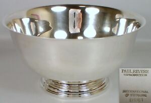 9 Vtg International Silver 840g Sterling Paul Revere Reproduction Footed Bowl