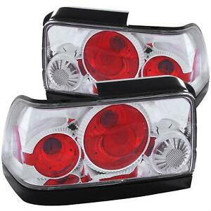 Anzo Euro style Taillights Red clear Lens Chrome 1993 1997 Toyota Corolla