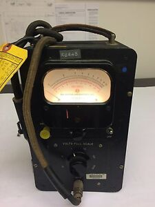 Vintage Ballantine Electronic Ac Voltmeter Model 314 110 120v 50 60 Cycl Tested