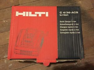 Hilti 4 36 Acs Battery Charger Brand New In Box Fast Free Shipping