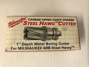 Milwaukee 49 57 1189 1 3 16 In Quick Change Tang Drive Steel Hawg Cutter