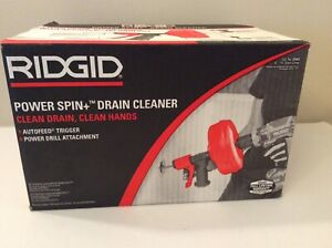 Ridgid 5704 Power Spin Drain Cleaner Autofeed Trigger New