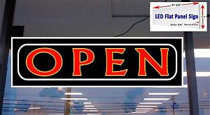 Led Sign Open Window Sign 48x12 Banner Neon Altenative New Generation Led