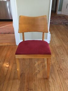 Heywood Wakefield 4 Mid Century Dining Side Chairs Excellent Condition