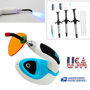 Ce 10w Wireless Led Dental Curing Light Lamp 2000mw Composite Resin Light Cure