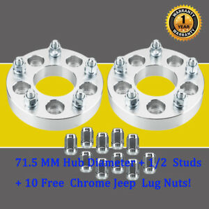 2pcs 1 25 5x4 5 To 5x5 Wheel Spacers 5 Lug Adapters For Ford Flex Mustang
