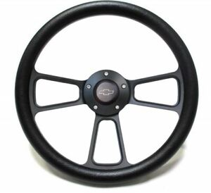 1995 2002 Chevy Full Size Trucks Steering Wheel Kit Black Vinyl Black Billet