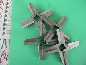 32 Meat Grinder Knives Carbide Commerical Grade Lot Of 4