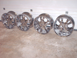 20 X 9 5 Bzo Big Boss Wheels 5x150 Bolt Pattern Tundra Sequoia Chrome Deep Dish