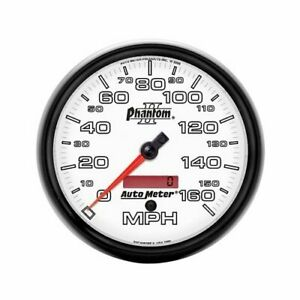 Autometer Phantom Ii Analog Speedometer 0 160 Mph 5 Dia Electrical 7589