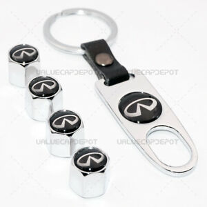 Silver Car Wheel Tire Valves Dust Stems Air Caps Keychain Ring For Ii Emblem