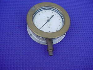 Usg 30 Psi Brass Bezel Steampunk Test Gauge 5 3 4 Od 1 Subd Nice