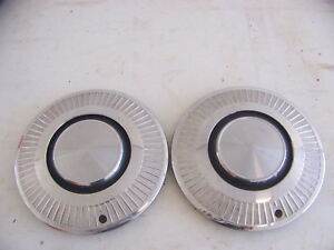 1963 1964 1965 Plymouth Valiant 13 Hubcaps Oem Pair 2401820