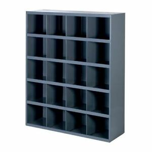 Metal 20 Hole Storage Bolt Bin Cabinet Compartment Nuts Bolts Fasteners Screws