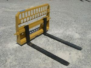 Caterpillar Skid Steer Attachment New 48 5 500 Pound Pallet Forks Ship 149