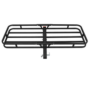 500lbs Hitch Mount 53 x19 Cargo Carrier Luggage Basket W 2 hitch Receiver