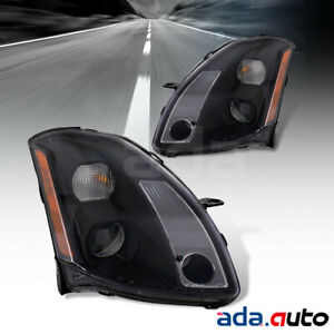 For 2004 2005 2006 Nissan Maxima Black Factory Style Replacement Headlights Pair