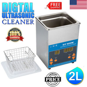 2l Digital Ultrasonic Cleaner Wave Dental Jewelry Glasses Ultrasonic Cleaning Us