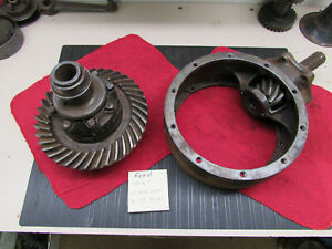 Original 1935 36 Ford V8 Commercial Banjo Ring And Pinion 4 33 To 1 Ratio