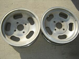 Vintage Us Indy Mag Aluminum Gasser Wheels 15 Inch By 4 5 Width