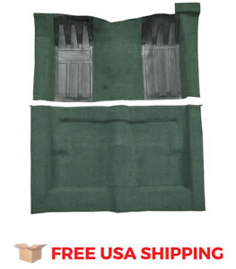 Acc Fits 1969 1970 Ford Ranchero Gt Auto With 2 Dark Green Inserts Loop Carpet