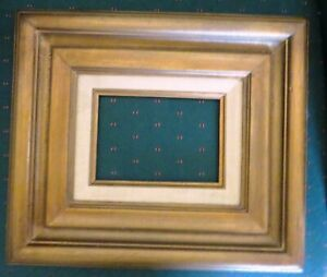 Vtg Brown Wood 5x7 Picture Frame No Glass No Hardware
