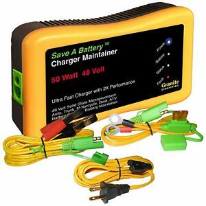 Battery Saver 2365 48 48v 50w Quick Charger Auto Pulse Maintainer New Usa