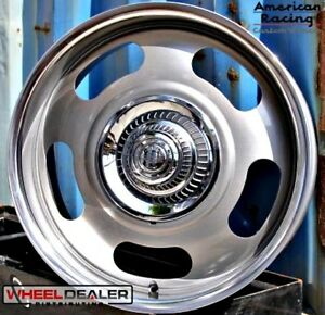 17x8 17x9 Gray American Racing Rally Wheels Free Caps Chevy Gmc C10 5 Lug 5x5
