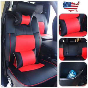 Us Seat Cover For Dodge Ram 1500 2500 2009 2018 Front rear Cushion Pu Leather