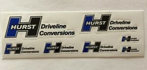 Hurst Driveline Conversion Pck Decal Sticker Drag Offroad Nascar Racing Man Cave