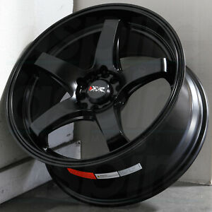 17x8 Flat Black Wheels Xxr 555 5x100 5x114 3 35 Set Of 4