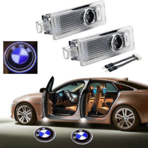 2x Ground Lamp Car Door Led Laser Logo Projector Shadow Lights For Bmw 3 5 6 7 X