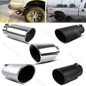 4 Inlet 6 8 Outlet 12 15 Long Diesel Exhaust Tip Chrome Stainless Steel