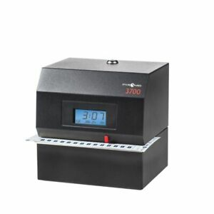 Pyramid 3700 Heavy duty Time Clock Document Stamp Black
