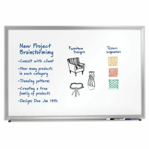 Foray Aluminum framed Dry erase Board With Marker 24 X 36 Silver Frame