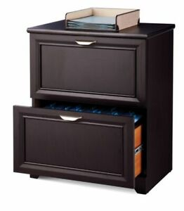 Realspace Magellan Collection Lateral File Cabinet 2 Drawers Espresso