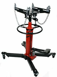 Dragway Tools 1000lb 2 stage Hydraulic Transmission Jack Hoist With Foot Pump Ld