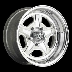Center Line Dicer Nitrous 15x6 5x4 3 4 Alum 2pc Polished Pair Wheels 7595603547