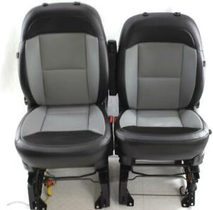 14 18 Dodge Promaster Cargo Van Front Seats With Air Bag Bucket Black Grey Pair