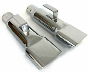 1968 70 Mopar Dodge Charger Chrome Exhaust Tips Extensions correct Size Weight