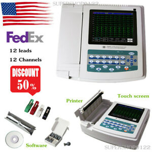 Ecg Machine Electrocardiogram 12 Channels 12 Leads Touch Printer Software Usa