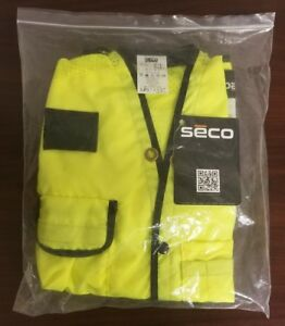Seco Class 2 Surveyor s Vest With Mesh Back Lime Yellow Small 42 Chest Safetyaf
