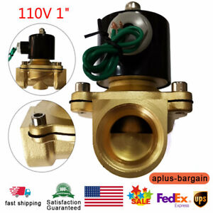 1 Npt female 110 120v Volt Ac Electric Solenoid Valve Brass Water Air Gas Nc